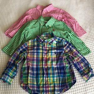 Ralph Lauren Button Down Shirt Long Sleeves (3pcs)